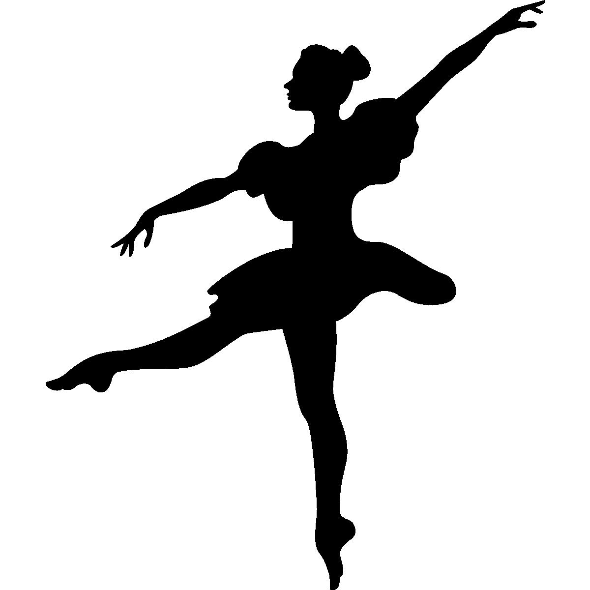 stickers de silhouettes et personnages sticker danseuse classique ambiance. Black Bedroom Furniture Sets. Home Design Ideas