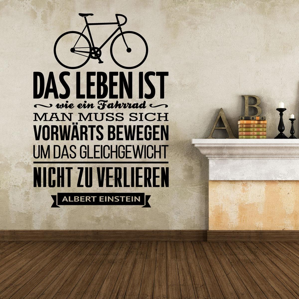 Sticker Das leben ist wie ein fahrrad - Albert Einstein