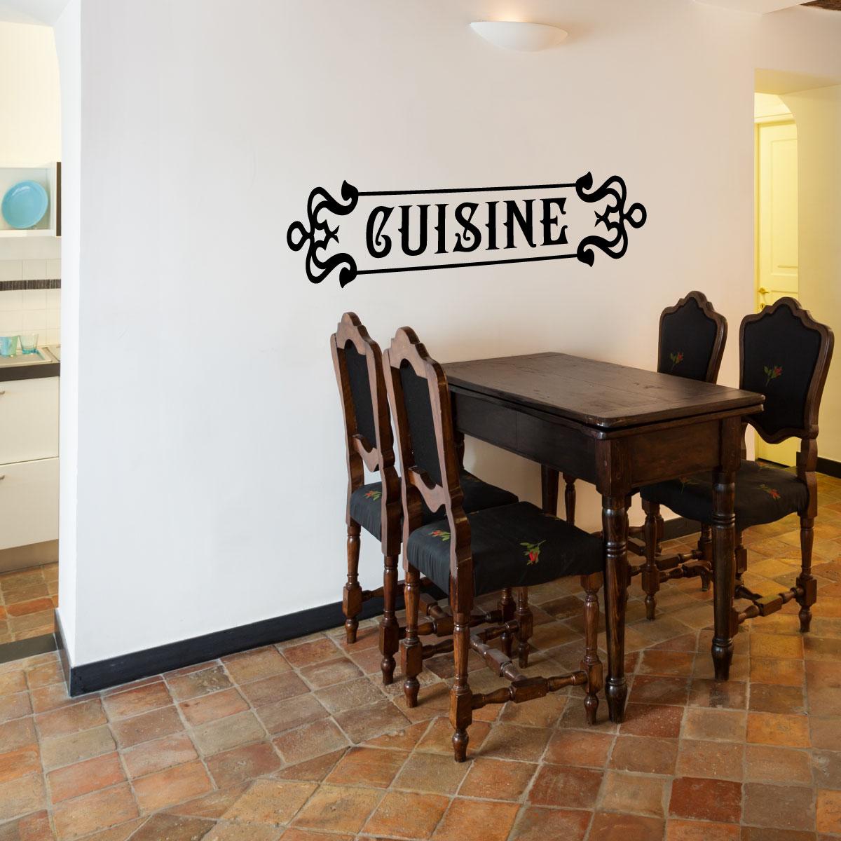 stickers muraux pour la cuisine - sticker cuisine rétro | ambiance