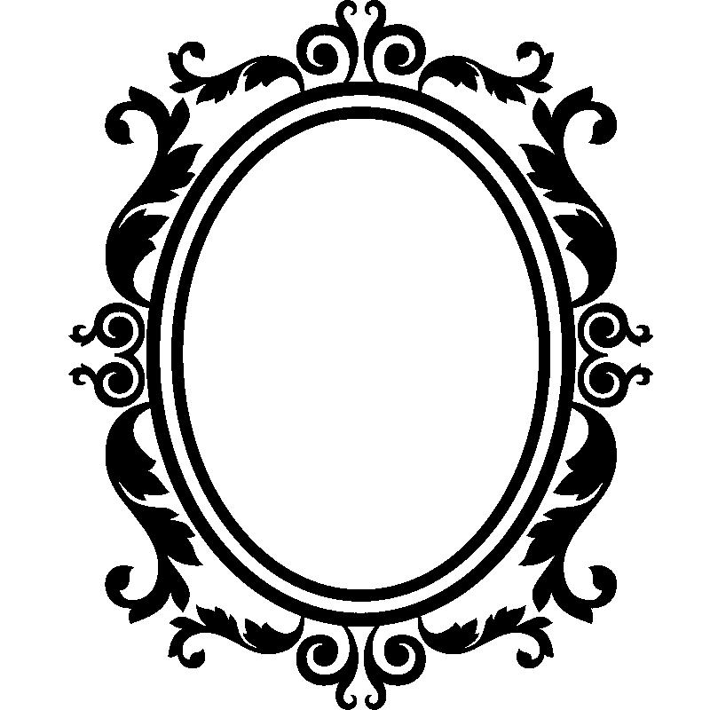 Encadrement Baroque sticker design baroque cadre en forme de miroir - stickers art et