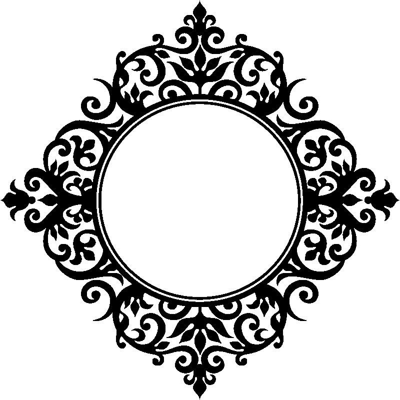 Sticker Design Baroque Miroir Stickers Stickers Art Et