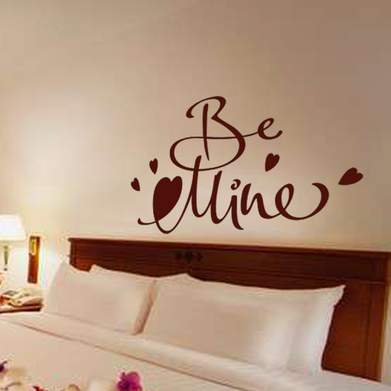stickers muraux pour chambre sticker mural design be mine ambiance sticker