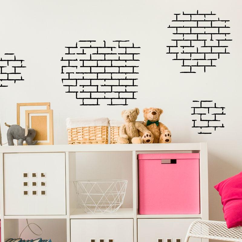 sticker design briques stickers art et design artistiques ambiance sticker. Black Bedroom Furniture Sets. Home Design Ideas