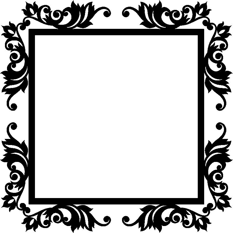 stickers muraux baroque sticker design cadre et baroque ambiance. Black Bedroom Furniture Sets. Home Design Ideas