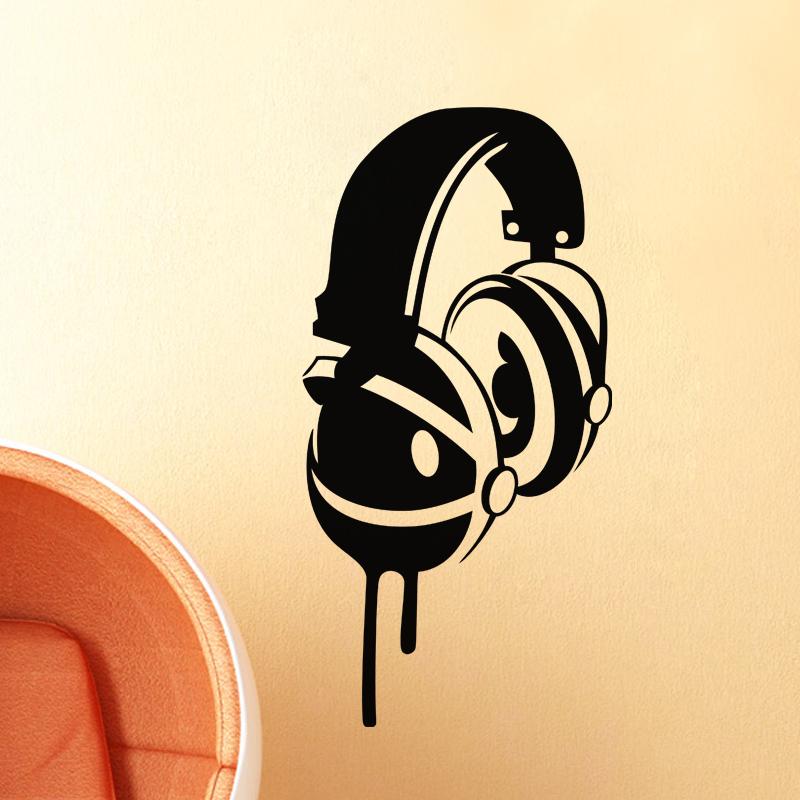 Dessin Casque Audio sticker design casque audio - stickers musique & cinema musique