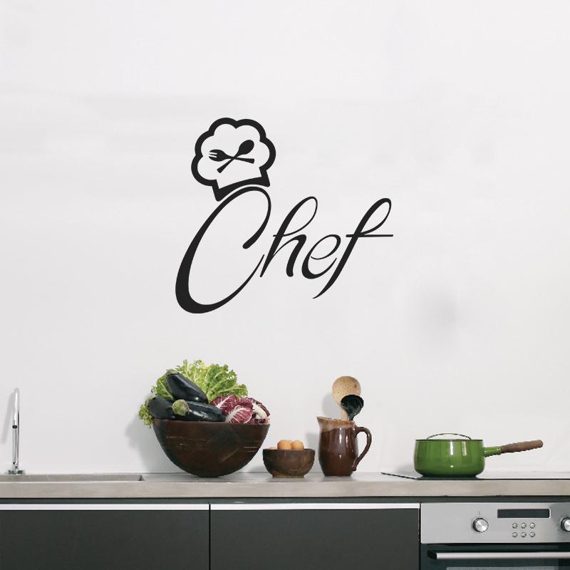 Sticker Design Chef De Cuisine   Stickers Muraux Pour La Cuisine