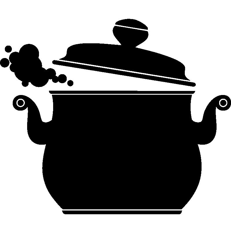 Dessin Marmite sticker design marmite - stickers muraux pour la cuisine | ambiance