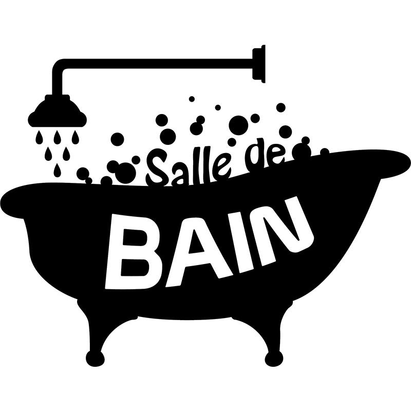 Sticker design salle de bain stickers salle de bain et - Stickers pour carreaux salle de bain ...