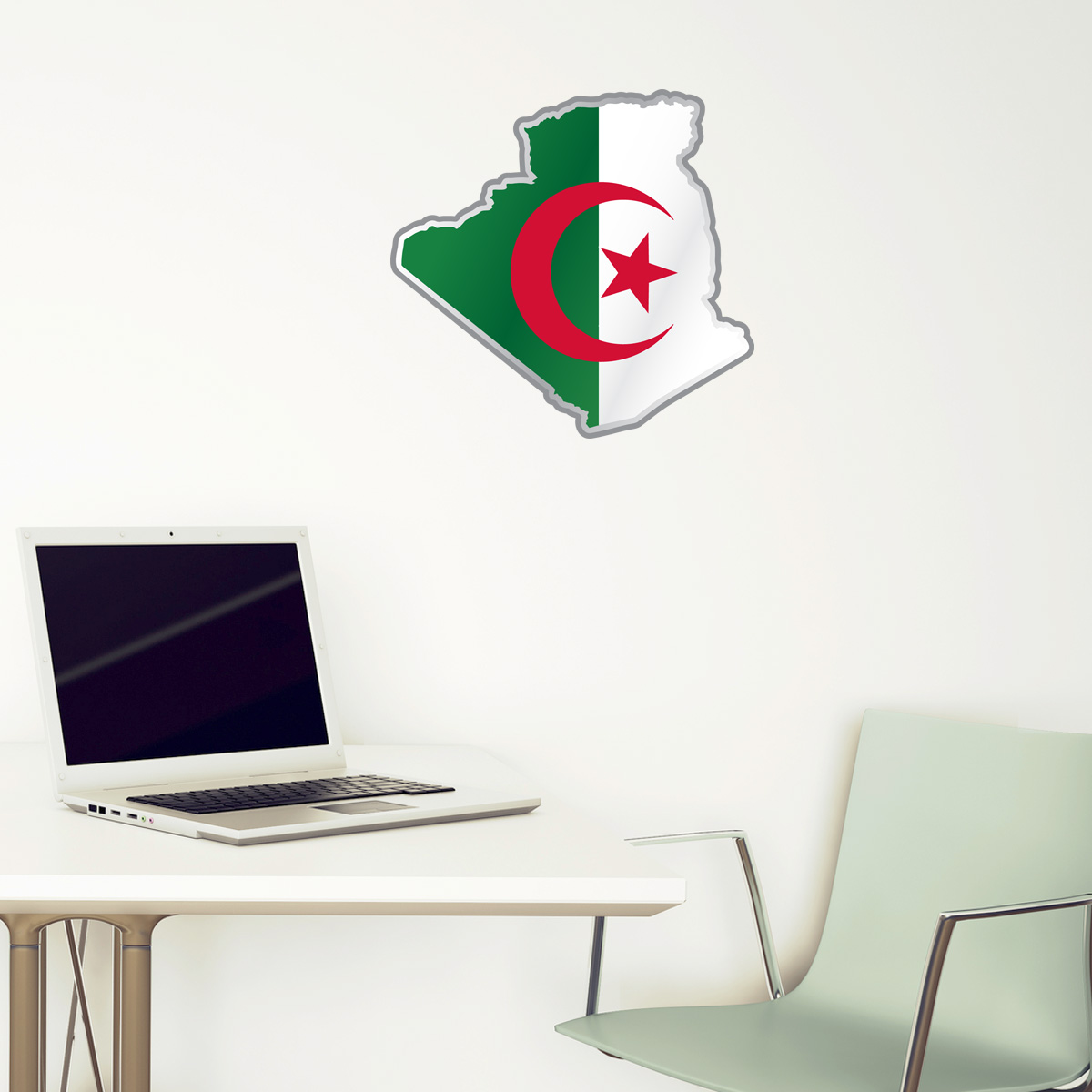 Stickers Et Autocollants Voiture Sticker Drapeau De L Algerie A L