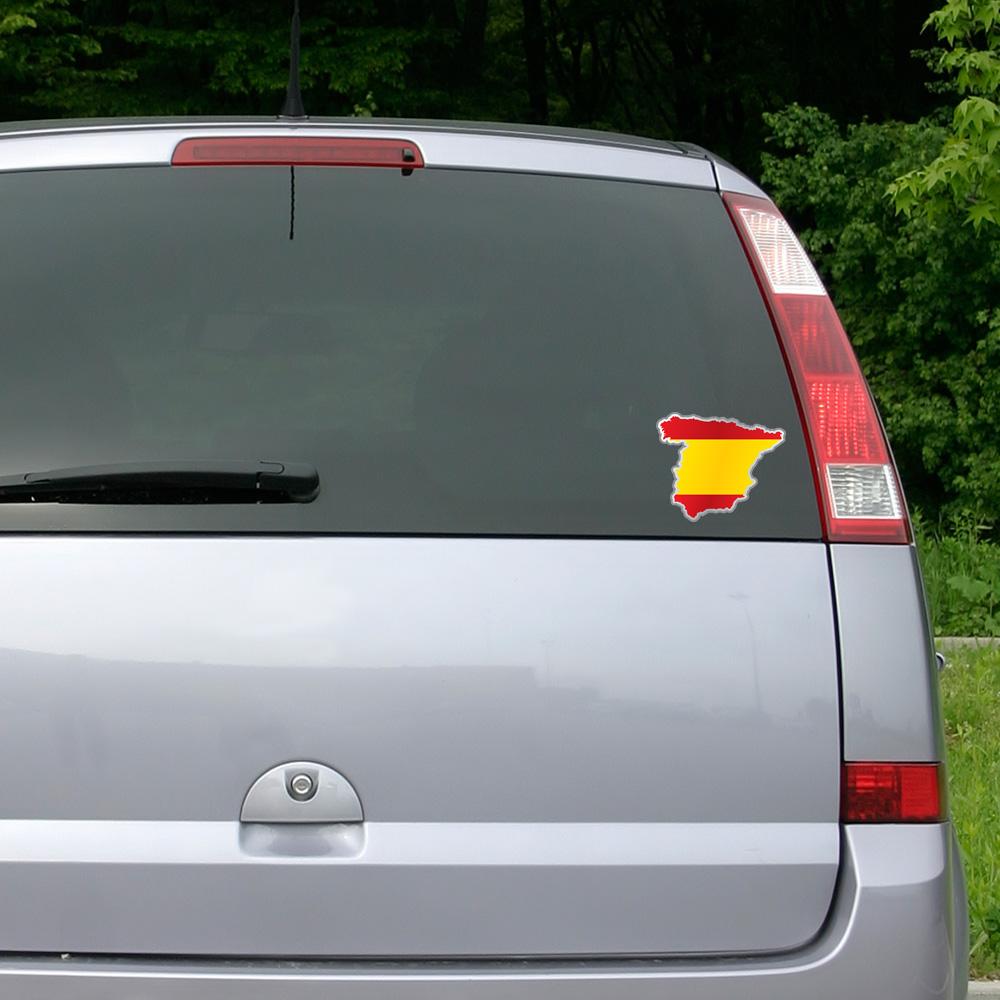 stickers et autocollants voiture sticker drapeau espagnol l 39 int rieur de la forme pays. Black Bedroom Furniture Sets. Home Design Ideas