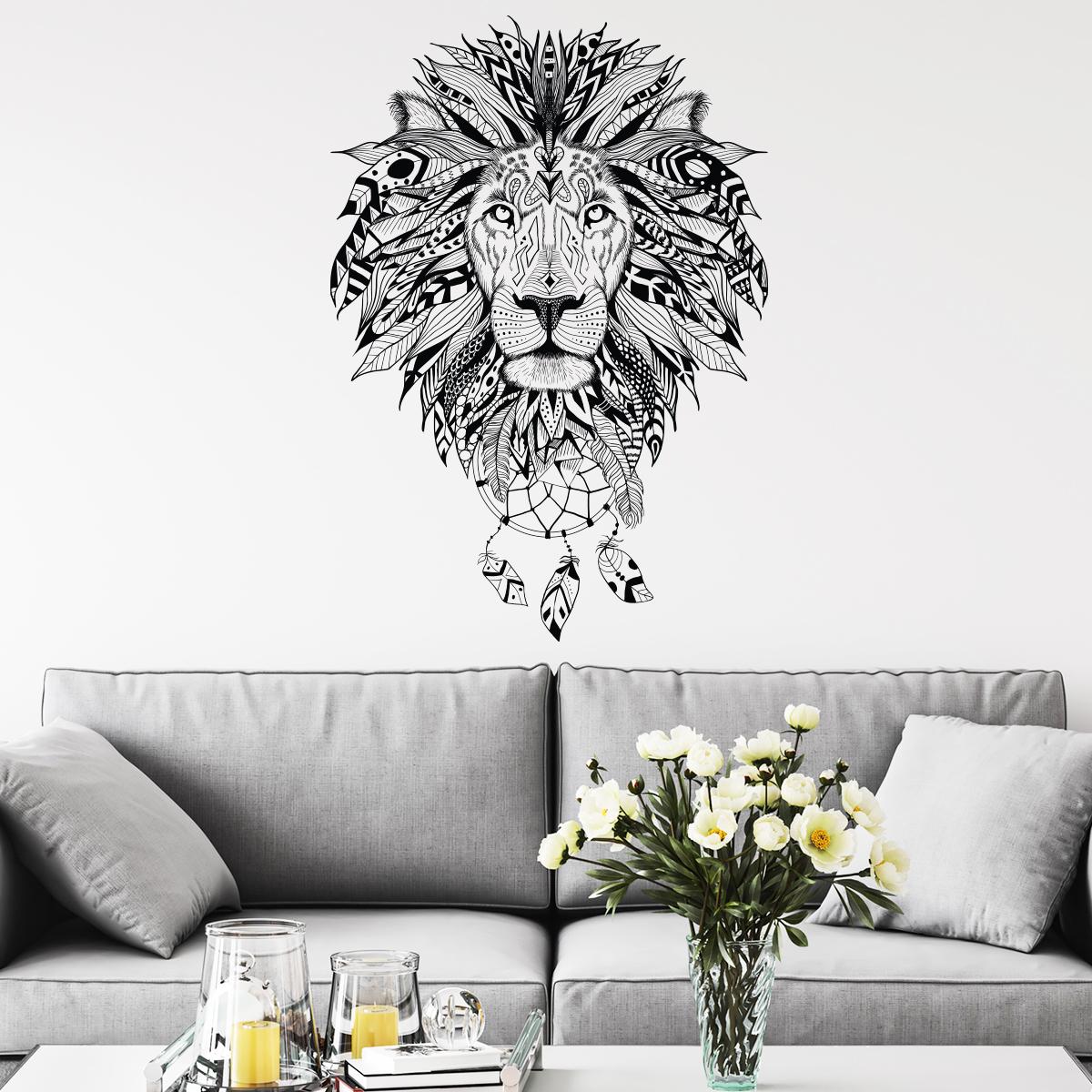 Tete De Lit Ethnique sticker ethnique tête de lion