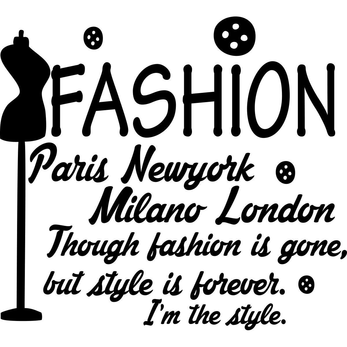 Stickers muraux design sticker fashion paris new york milano london