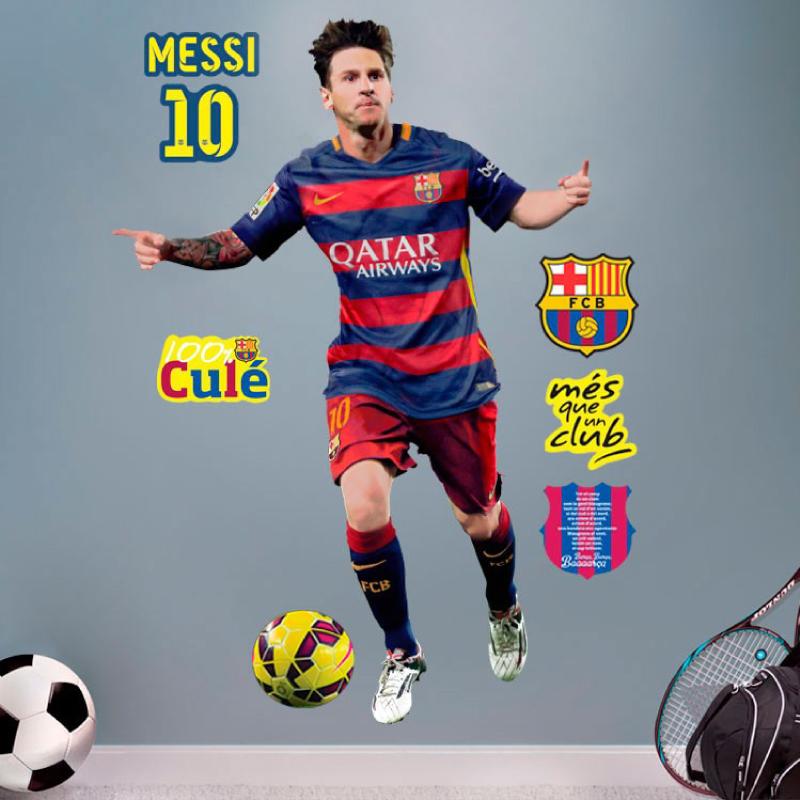 Sticker Fc Barcelone Messi 120cm Stickers Sports Et Football