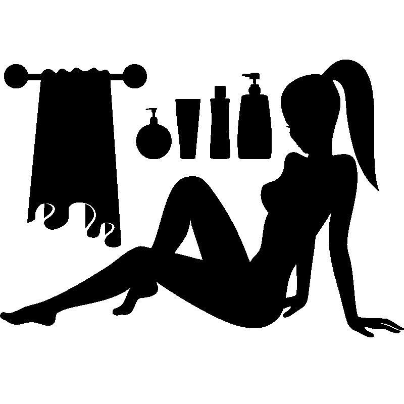 Stickers muraux pour salle de bain sticker mural femme - Stickers pour carreaux salle de bain ...