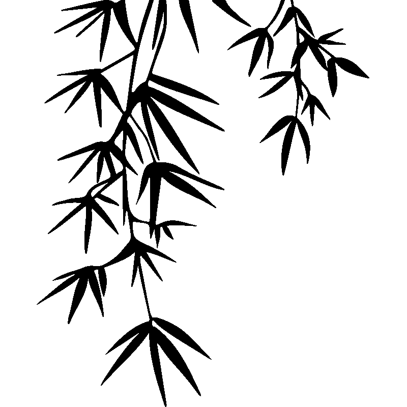 Sticker Feuilles De Bambou Décoratif