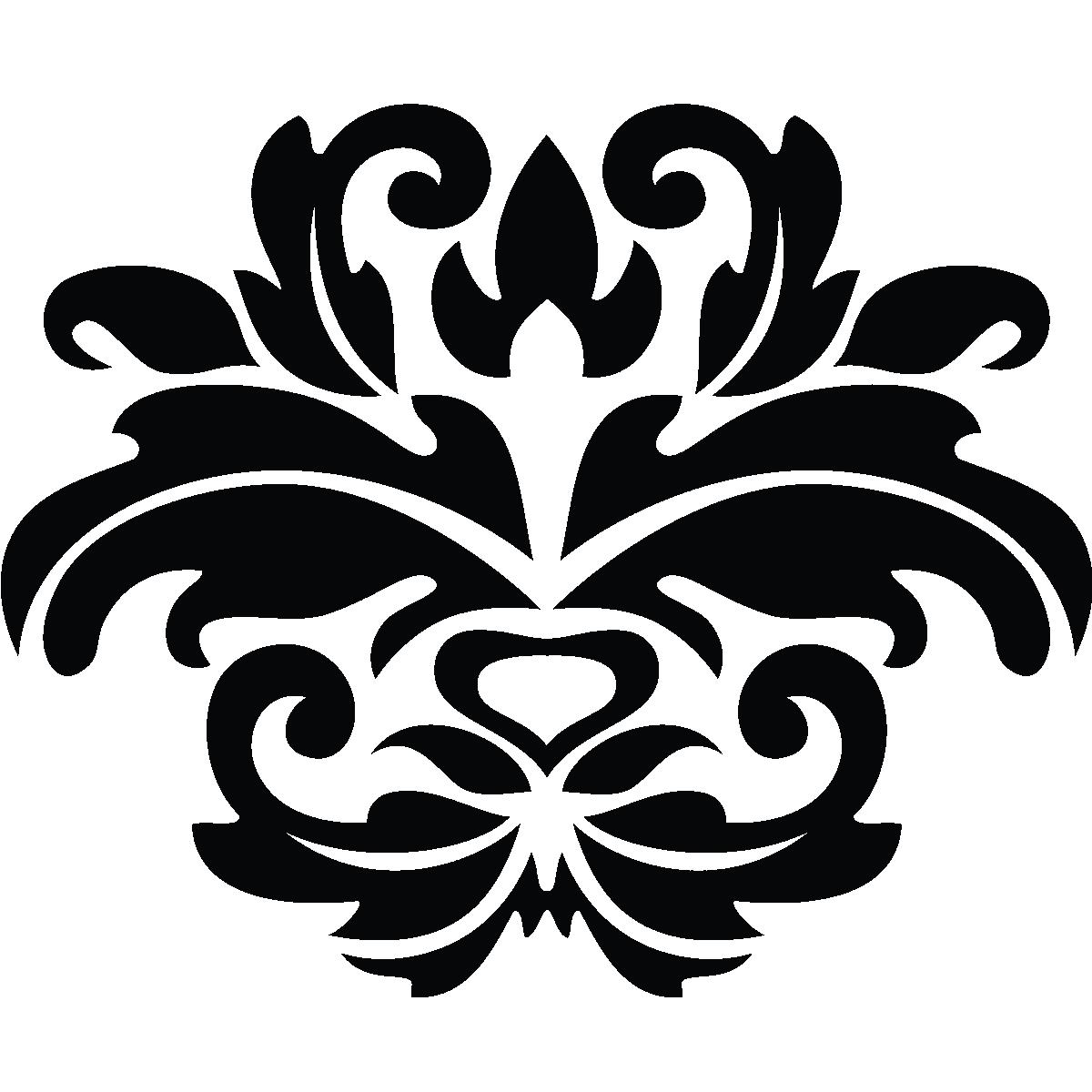 Stickers Muraux Design Sticker Mural Fleur Art Deco Ambiance