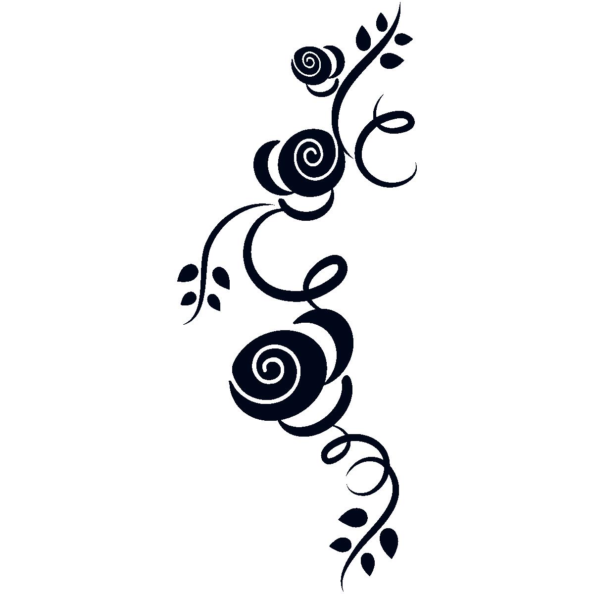 Stickers Fleurs Longues En Courbe