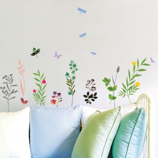 Stickers Fleur Et Herbes Hautes Stickers Muraux Nature