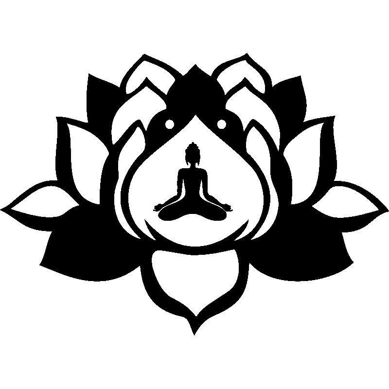Sticker Fleurs Lotus Zen Stickers Nature Fleurs Ambiance Sticker