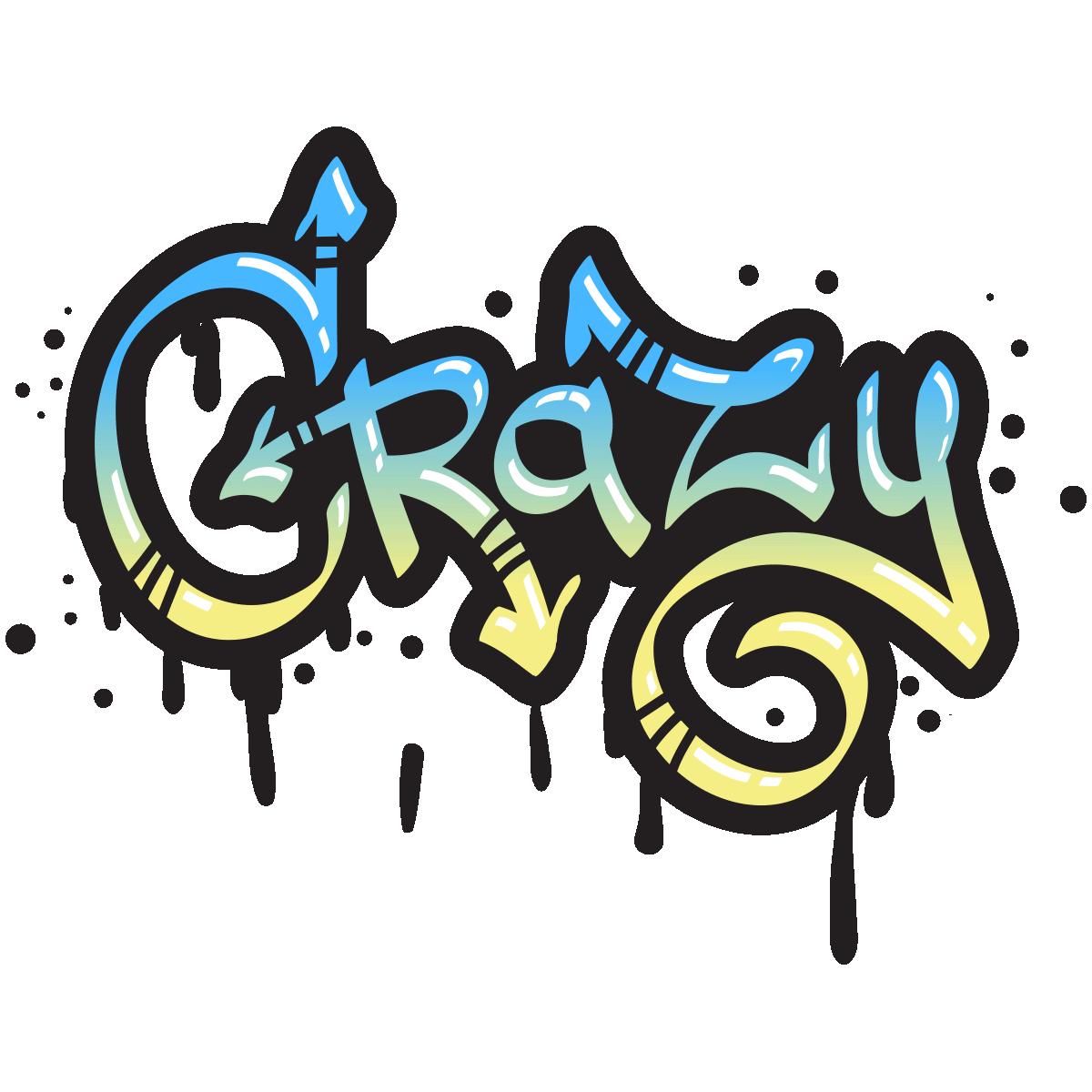 sticker graffiti crazy � stickers art et design graffitis