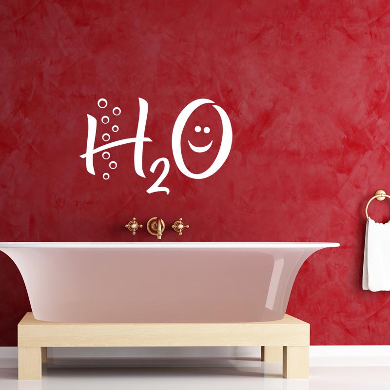 Stickers muraux pour salle de bain sticker mural h2o - Stickers pour carreaux salle de bain ...