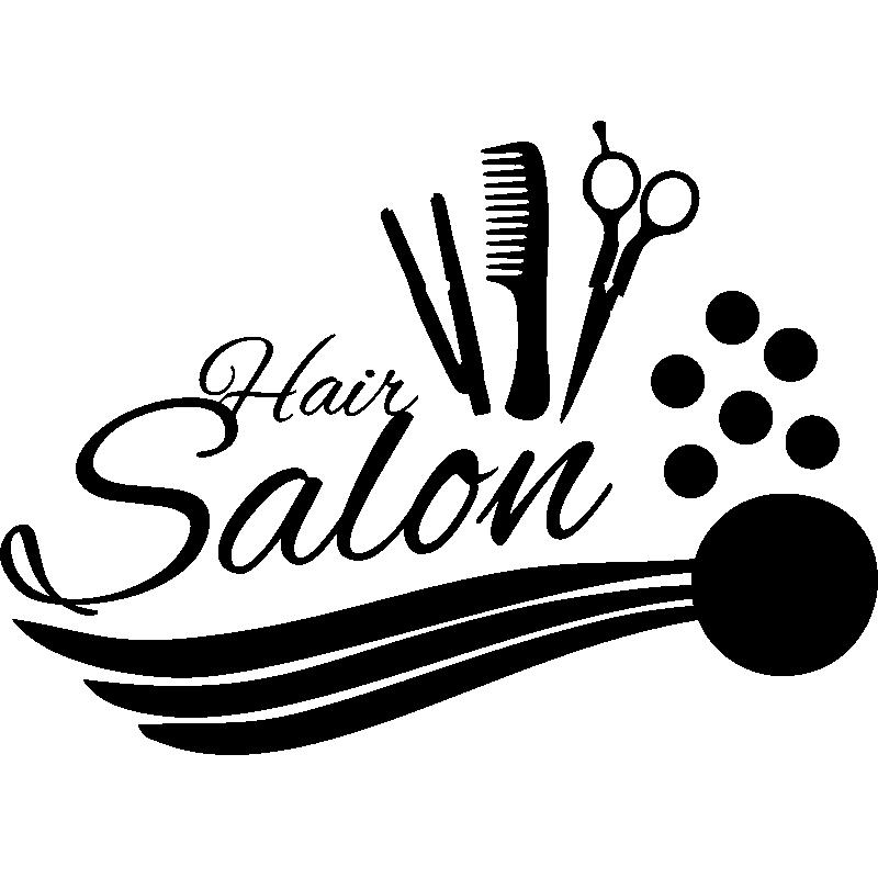 Sticker hair salon accessoires de coiffure stickers - Stickers muraux salon ...