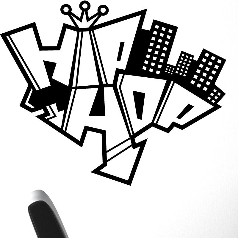 Dessin De Graffiti hip hop graffiti - stickers mural musique