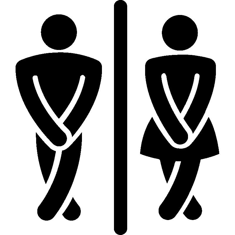 sticker homme femme stickers salle de bain wc ambiance. Black Bedroom Furniture Sets. Home Design Ideas