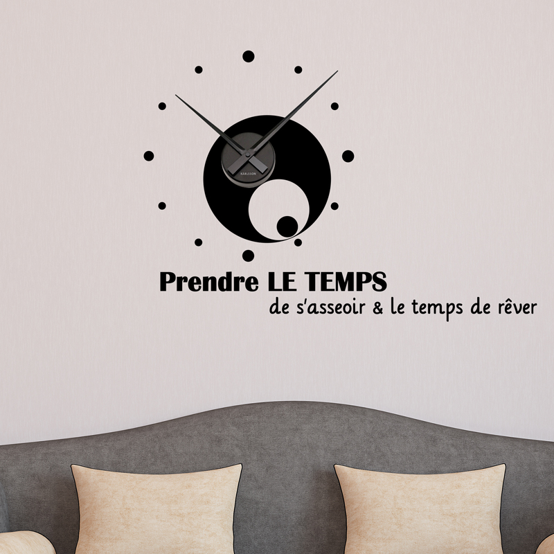 Sticker Horloge Le Temps De Rever Stickers Citations Francais