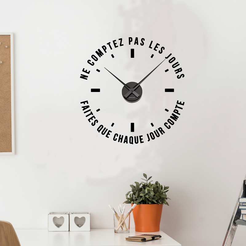 Sticker Horloge Ne Comptez Pas Les Jours Stickers Citations