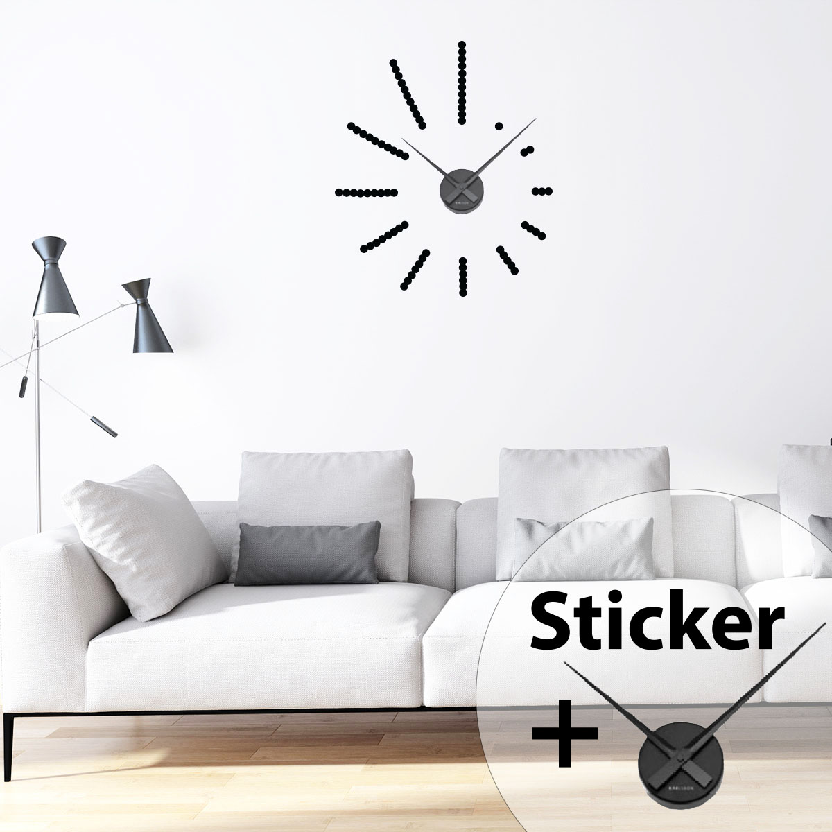 Sticker Horloge Spirale Stickers Horloges Ambiance Sticker Com