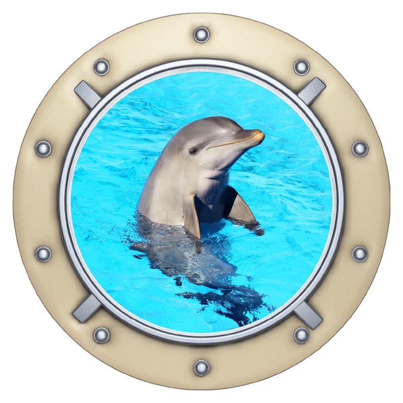sticker dauphin poisson