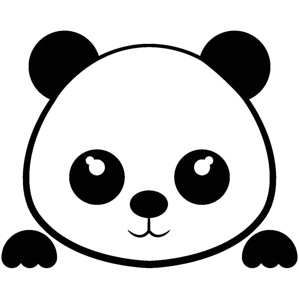 Sticker Interrupteur Panda Mignon