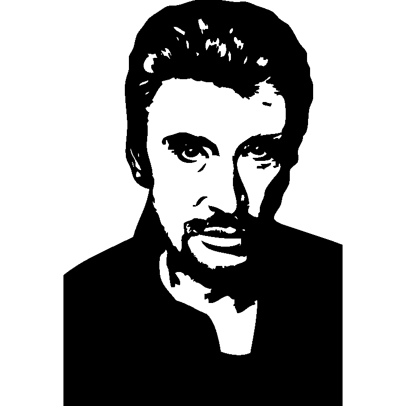 Johnny Halliday Stickers Mural Musique