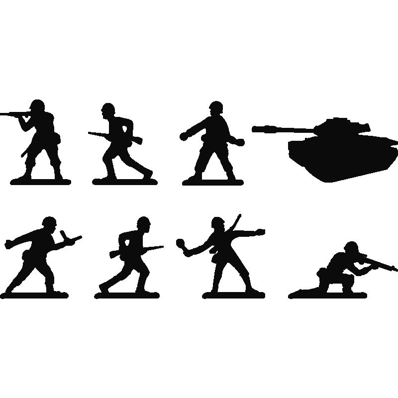 Stickers jouets soldats - Stickers enfants | Ambiance-sticker.com