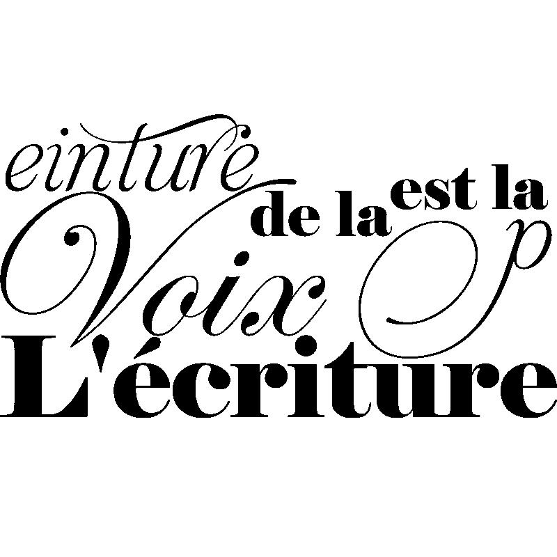 Sticker L'écriture est la peinture de la voix design ...