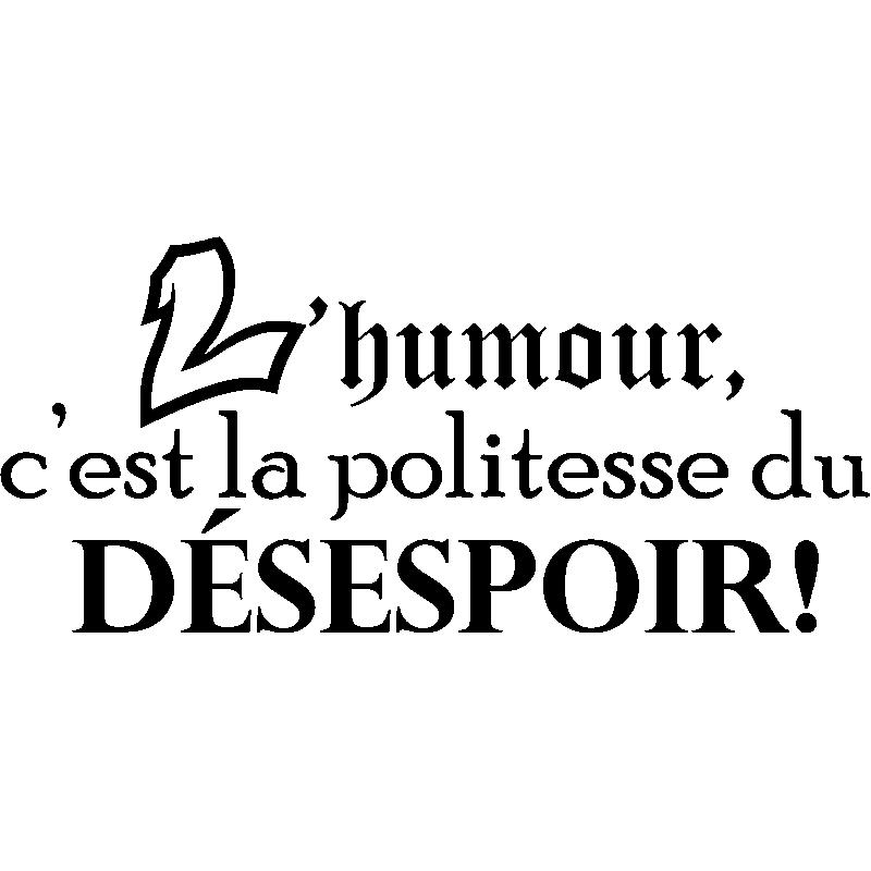 Sticker L Humour C Est La Politesse