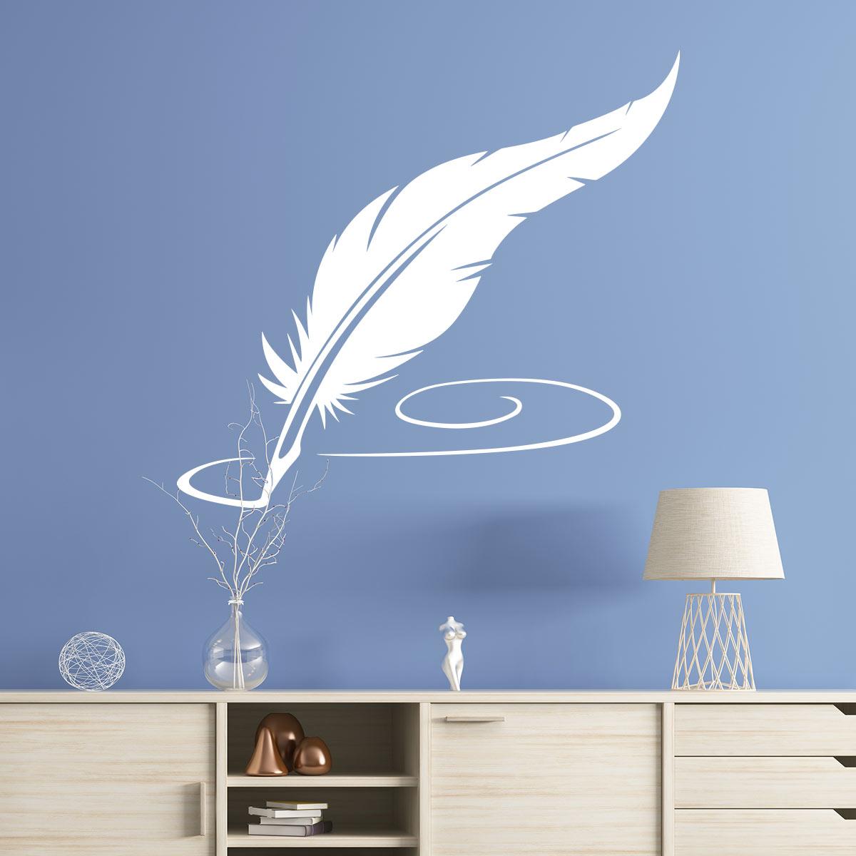 sticker la plume de l 39 crivain stickers art et design artistiques ambiance sticker. Black Bedroom Furniture Sets. Home Design Ideas