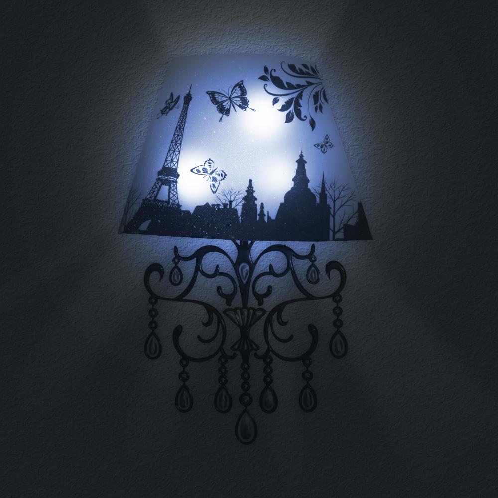 3d Sticker Lampe Tour Led Eiffel CoBxde