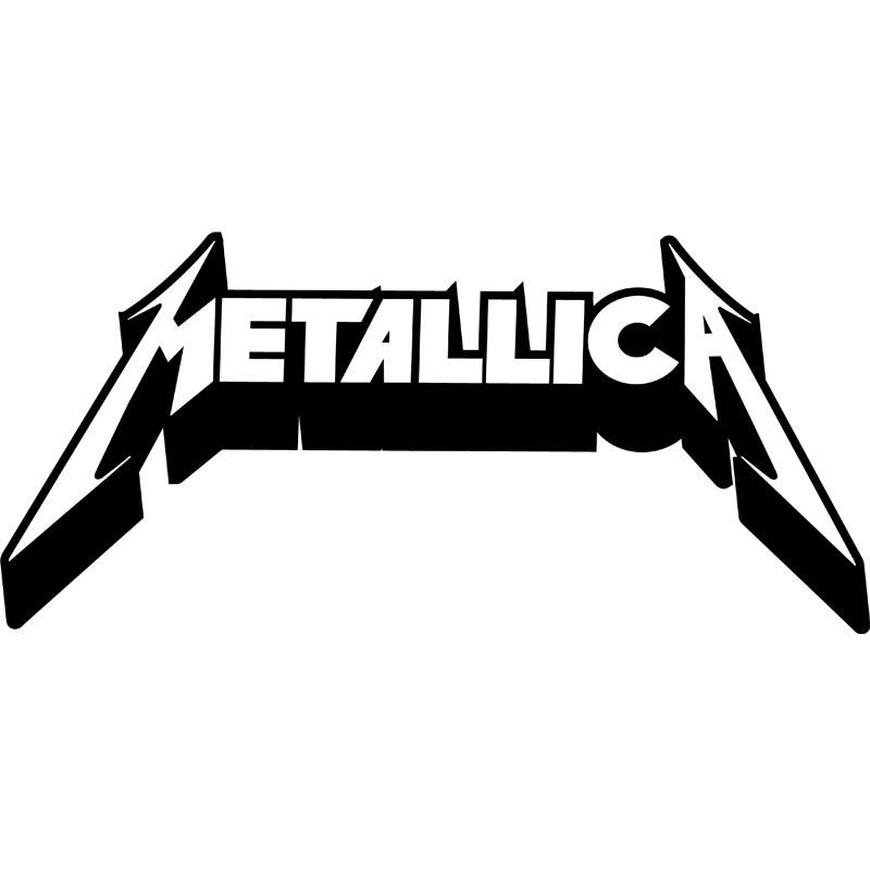 Chambre Dessin Couleur : Sticker logo metallica stickers musique cinema