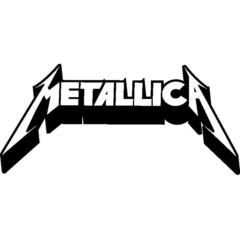 Vinilo Logo Metallica - Pegatina de Parede VINILOS MUSICA ...