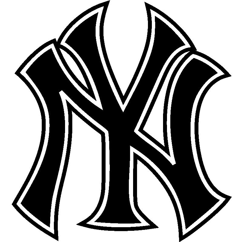 sticker logo yankees new york stickers villes et voyages new york