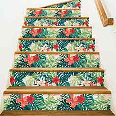 Stickers escalier tropical