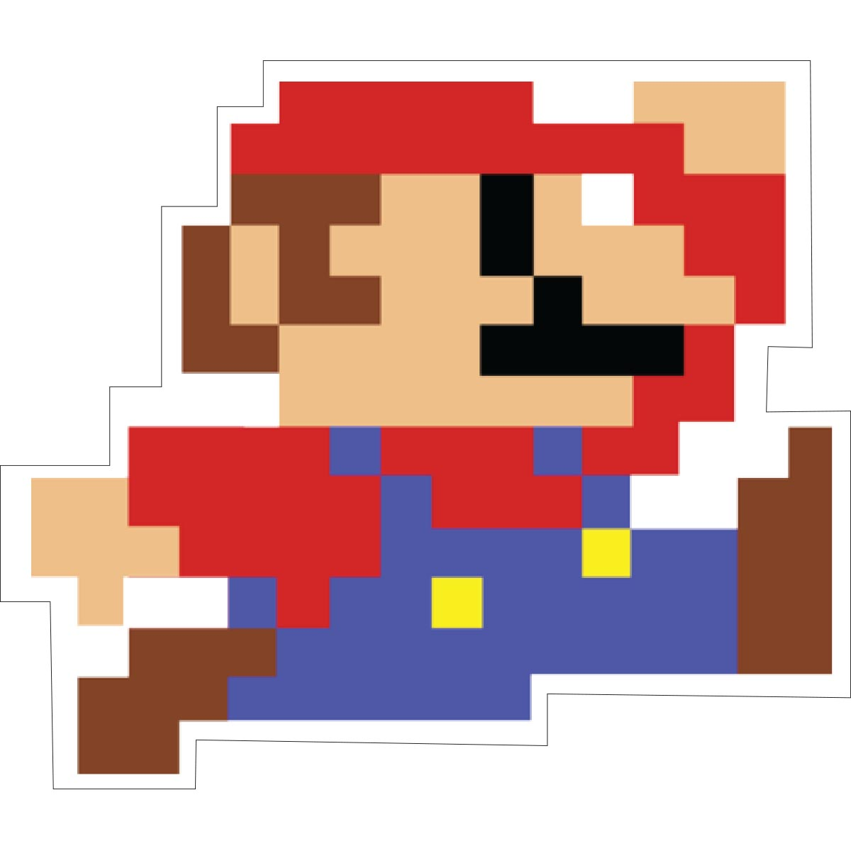 Sticker Mario Pixelisé