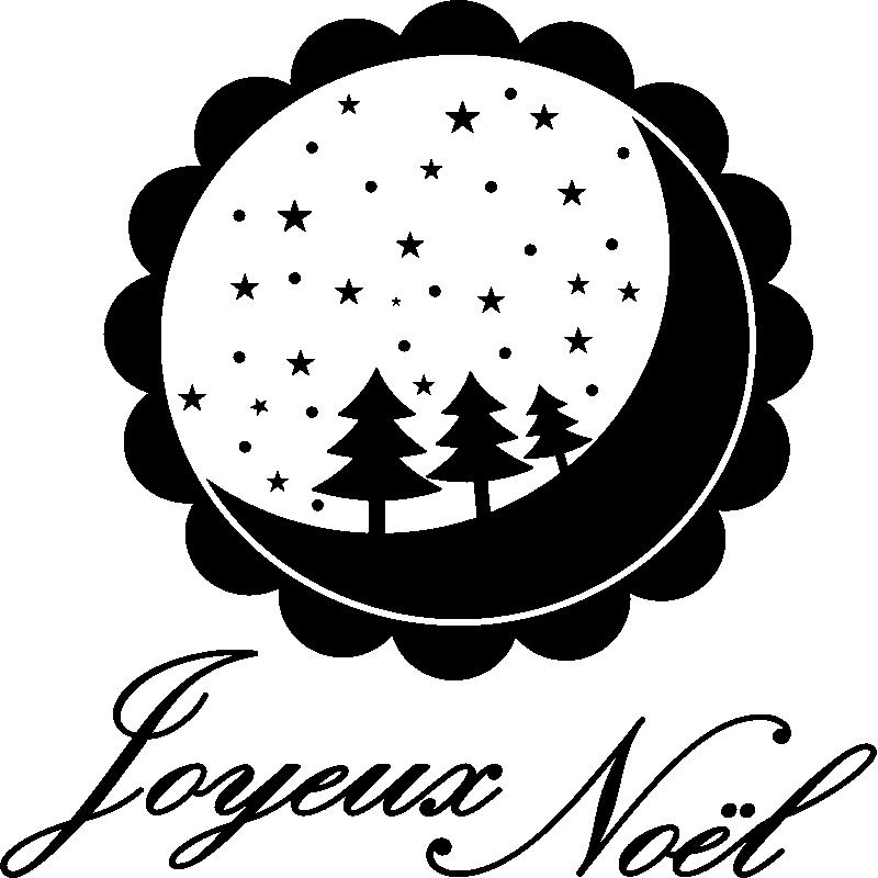 Sticker Noël Joyeux Noël Et Sa Boule Féerique