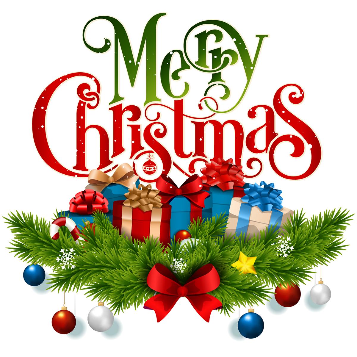 Merry Christmas Image.Sticker Noel Les Cadeaux De Noel Merry Christmas