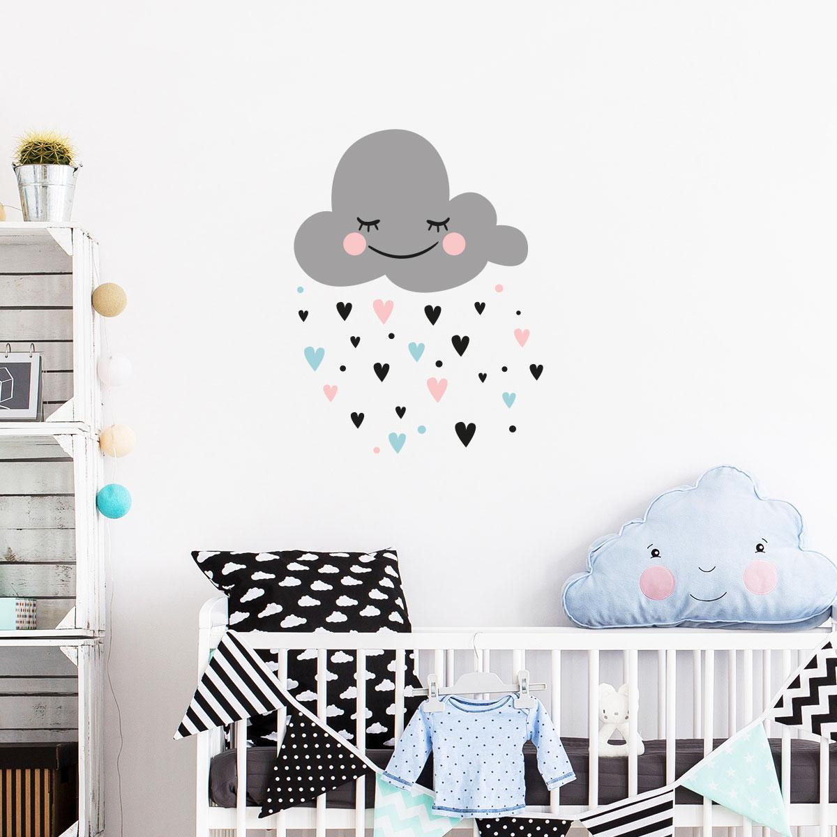 Sticker nuage d\'amour scandinave