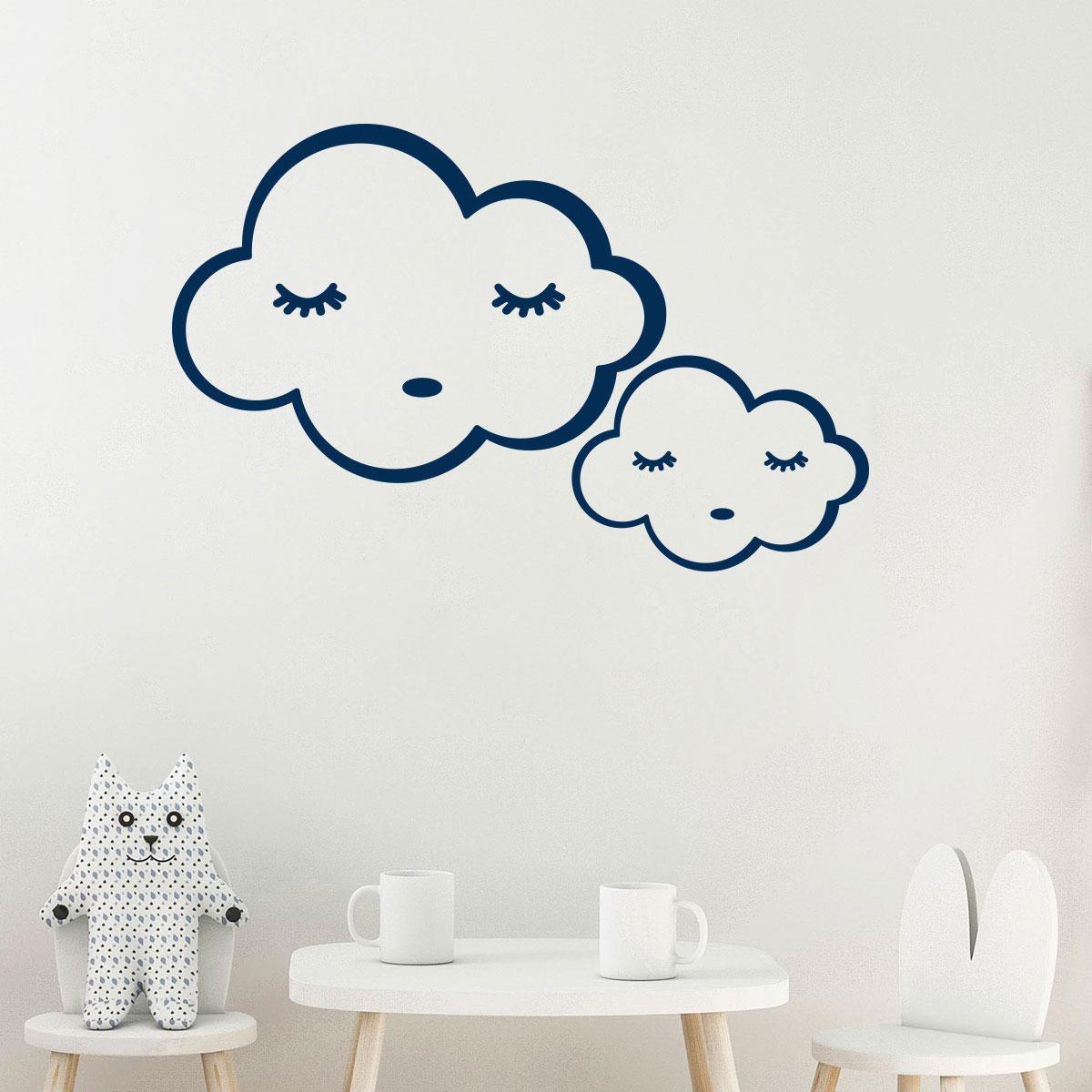 Sticker nuages bonne nuit