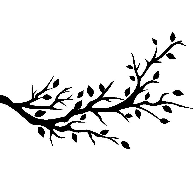 stickers muraux fleurs sticker ombre de branche d 39 arbre ambiance. Black Bedroom Furniture Sets. Home Design Ideas