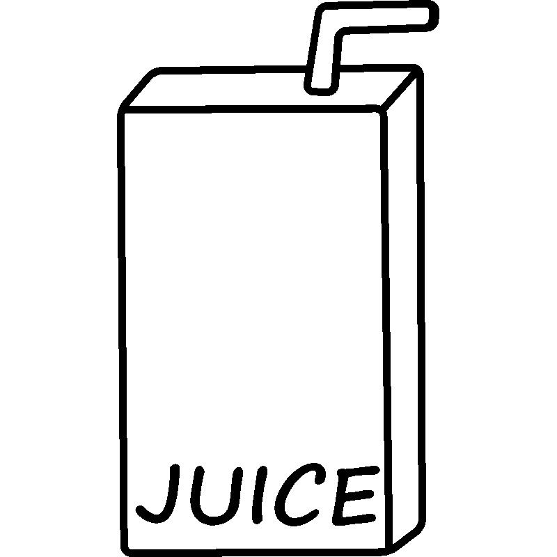 Sticker Ordinateur Jus De Fruit